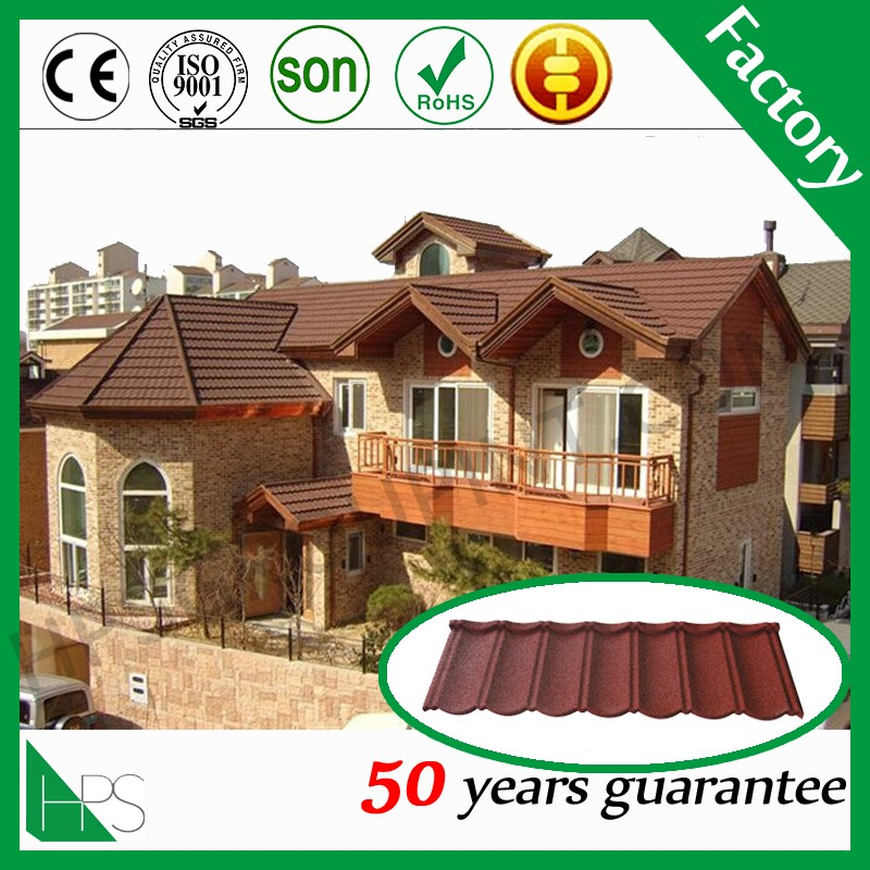 Cheap and Good Quality Stone Coated Metal Roof Tile