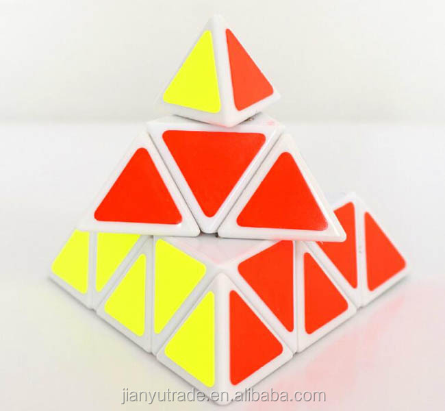 wholesale new fashion colorful pyramid magic cube snake puzzle with custom logo printing