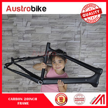 UD matt 451mm wheels 45cm full carbon bicycle 20 Inch Mini carbon bmx frame carbon mini frame