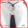 Garment accessories turkish woman tassel leather necklace