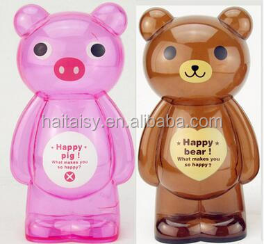 New style plastic coin banks asian piggy bank pig save money