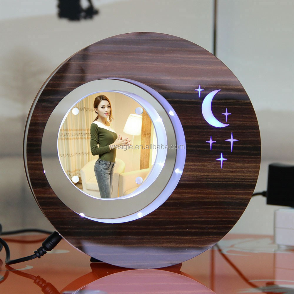 LED suspending in the air magnetic levitation photo frame wedding gift boxes in malaysia