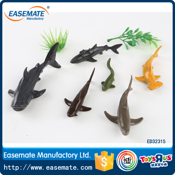 Hot Sale soft plastic shark sea animal toy mini ocean world animal toy
