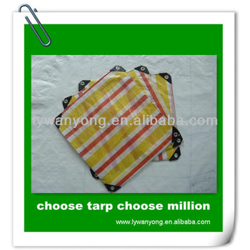 raw material pe tarpaulin plastic sheet with rope and eyelet