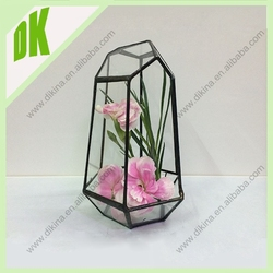 Home and living Hanging Glass Flower Vase Container Home Wall Decor
