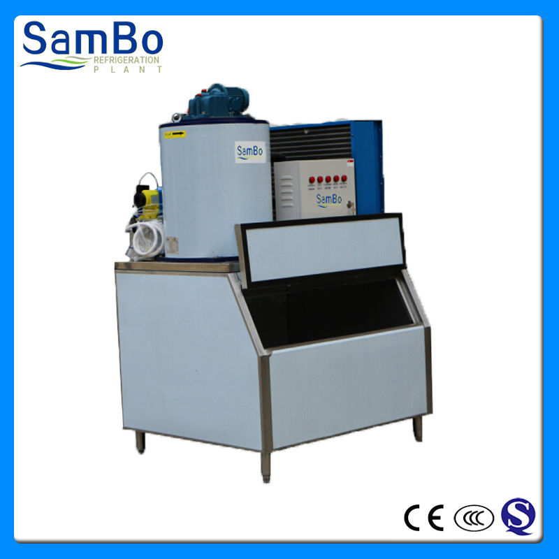 Fishery food preservation equipment 1000KG snow flake ice making machine with ice storage