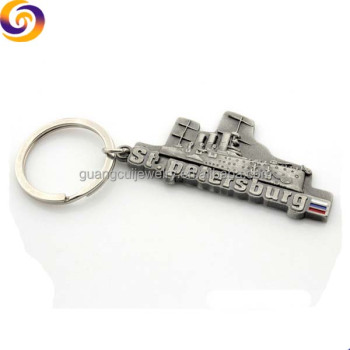 Fashion st petersburg keychain zinc alloy souvenir metal key chain keychain