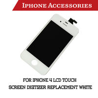 For iPhone 4 LCD Touch Screen Digitizer Replacement white