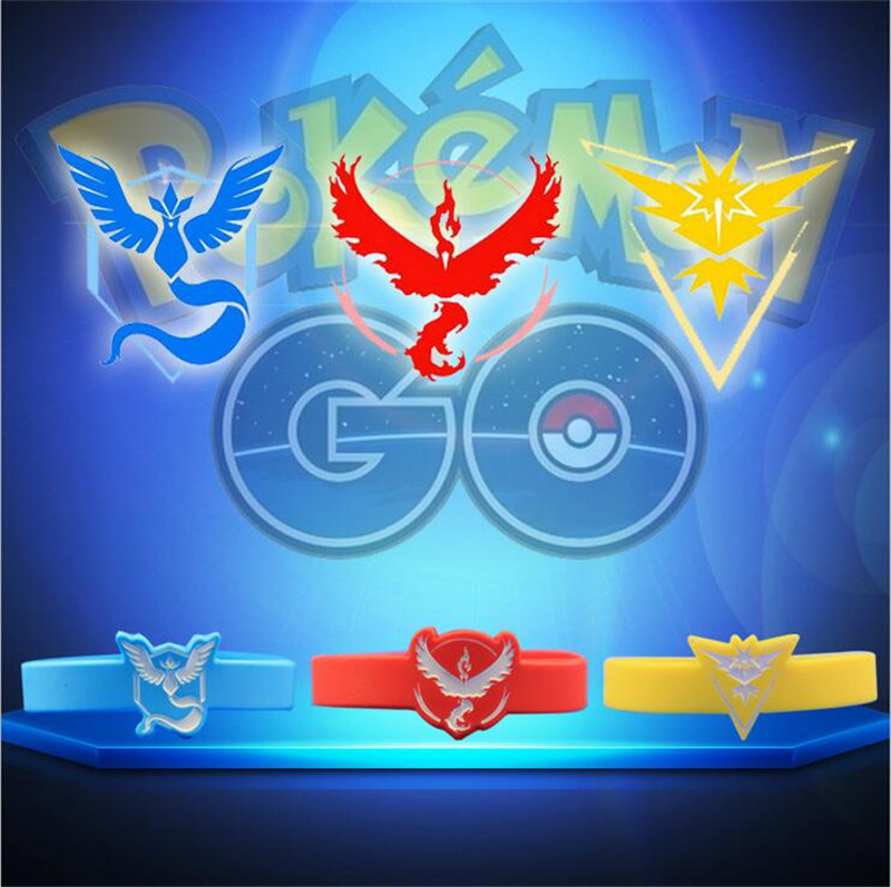 Hot Selling Cheapest Custom Silicone Bracelets Pokemon Go Bracelet