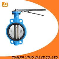 Factory supply high quality cast iron dn15- dn600 butterfly valves