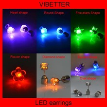 Novelty Colorful Eardrop For christmas Decoration LED Earrings