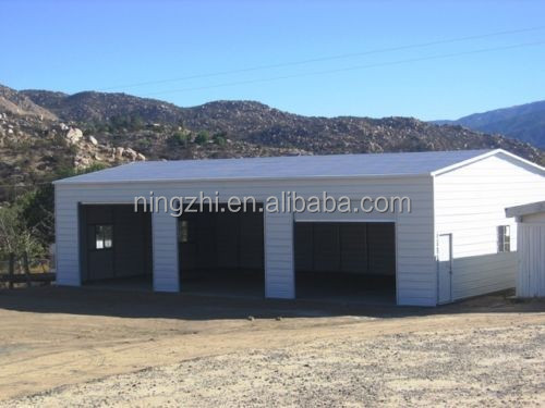 Low cost steel structure shed steel garage metal frame for Garage low cost