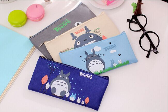 Student Fabric Pen Pencil Bag Pencil Case with Zipper School Pencil Pouch for Children Stationery Supplies 2016