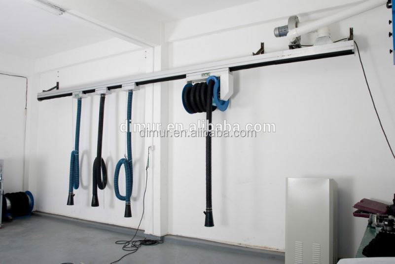 Auto repair equipment of exhaust extraction system slide rail