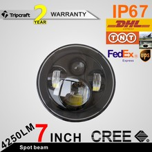 "Chinese new arrival high/low beam 7"" angel eyes head light for j eep wrangler led driving headlight"