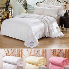 Jiu Meng Er brand home textile silk baby comforter set with top matching curtains