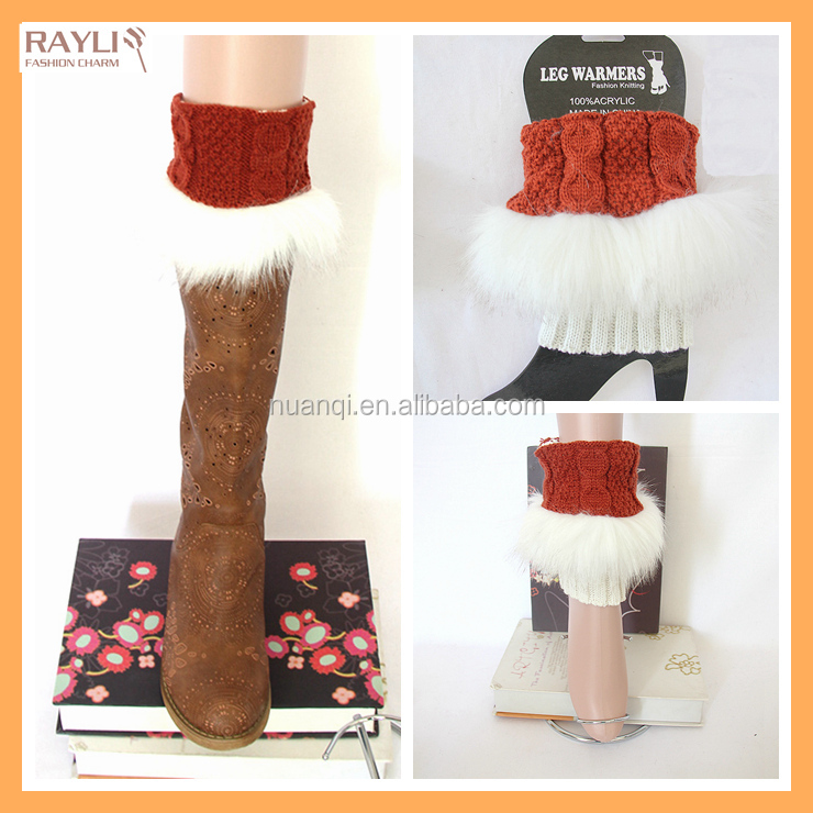 8 colors acceptable stock Fashion wholesales lady Winter fur boot cuffs