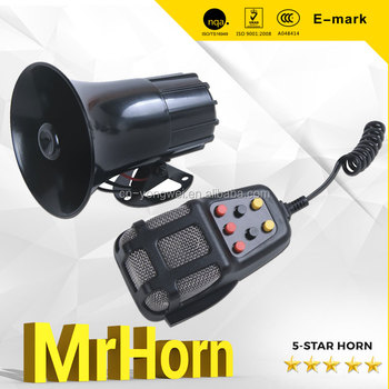 MrHorn 30W with 7 Tone 12v Car Siren Auto Electronical Car Alarm Horn
