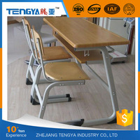 Tengya Wooden Combo Desk and Chair School Library Furniture for Sale