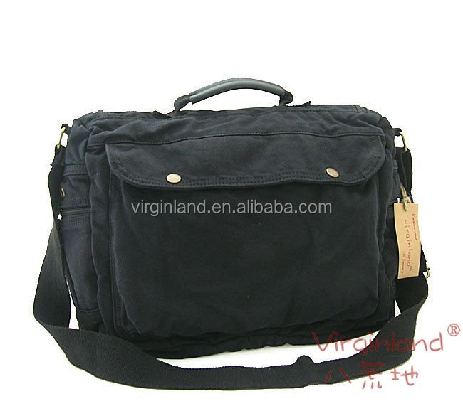 1212 black shoulder messenger bag, leisure bag, canvas bag