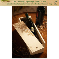 High Quality Wooden Wedding Wine Box Wooden Carved Wine Box Wooden Wine Gift Box