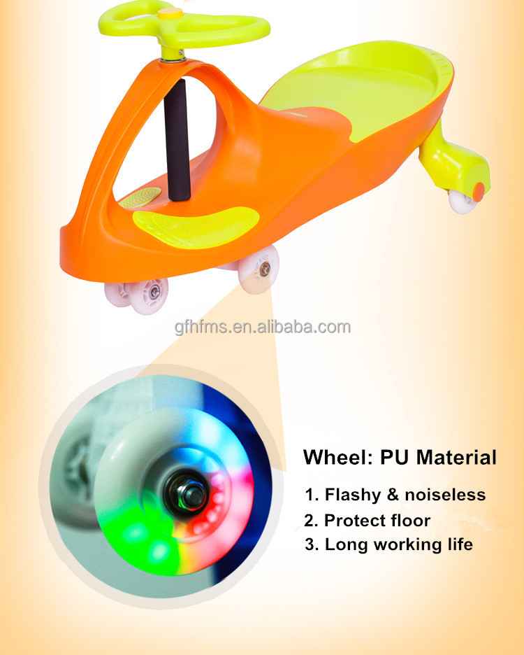 High Quality With Best Price Hot Sell Classic Style PU Wheel Baby Toy Ride On Swing Car
