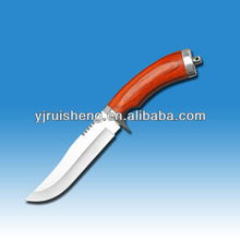 New Design Combat knife with color wood handle