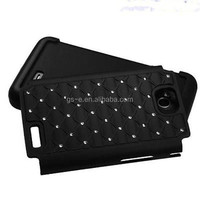 Bling Rhinestone Combo Gel Silicone Case for LG Optimus l70
