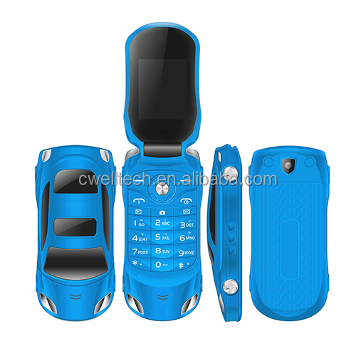 NEWMIND F15 Flip Dual SIM Car Shaped Mobile Phone