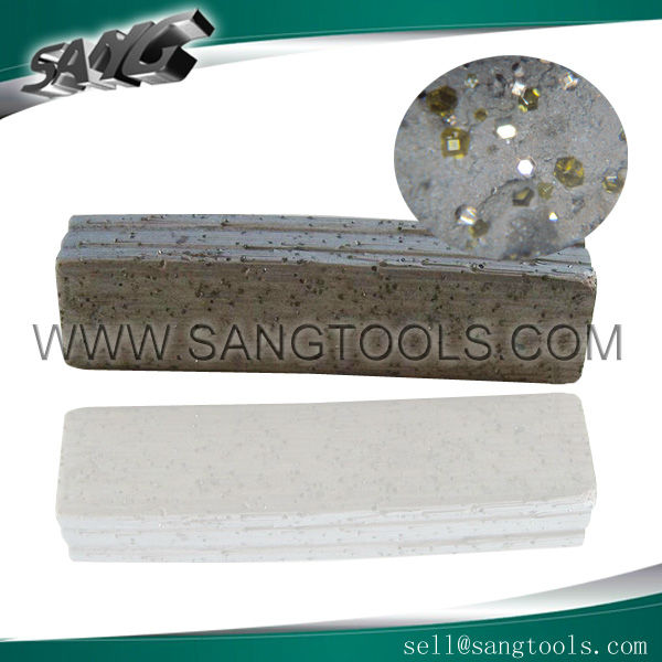 Diamond segments ( cutting tips ) to cut hard and mid-hard granite for vertical multi blade