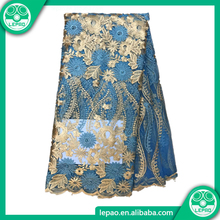 2018 net embroiderymesh fabric,african french net lace dress fabric