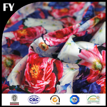 Digital printing factory custom high quality polyester bandage fabric for dress