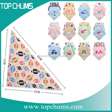 custom softtextile cotton hair cutting feeding triangle baby bib with bag