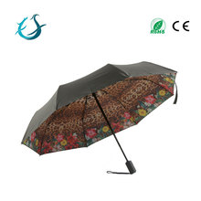 Easy open sun parasol 3 fold umbrella with uv protection