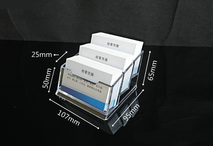 custom acrylic/lucite/plastic namecard/business card holder for promotion