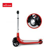 Rastar kid toy flash light 3 wheels scooter stand up electric scooter
