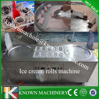 New model hot sale Thailand fry ice cream machine / instant ice cream rolls machine / stir fry ice cream machine