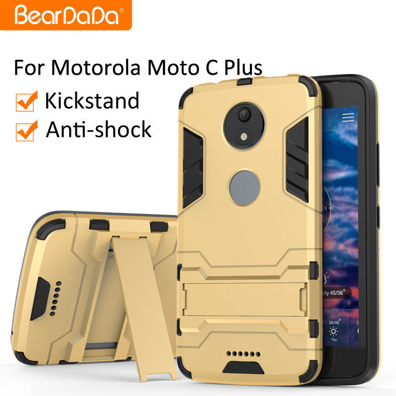 Shockproof kickstand phone accessories case for <strong>motorola</strong> moto c plus