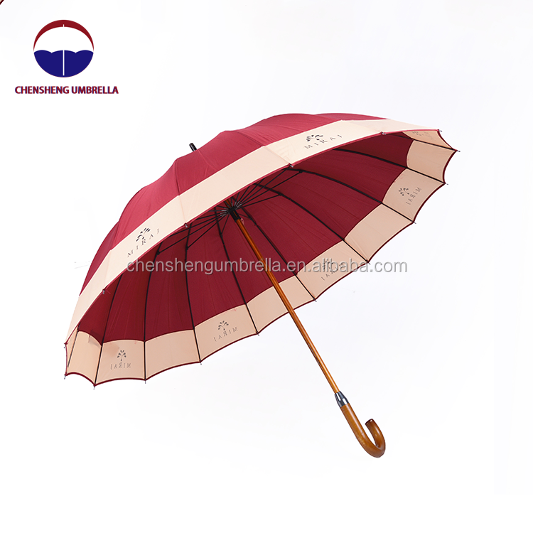 high quality custom fiberglass straight rain umbrella