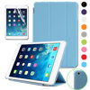 2 separated pieces design Magnetic Smart Cover Clear Back Case for Apple iPad Mini 2 Mini 3 with Sky Blue color