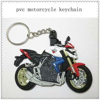 2013 hot!!! custom soft pvc motorcycle keychains with charm for promotion gifts