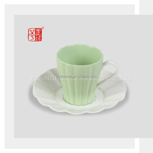 Pretty Design Italian Ceramic Coffee Cups and Saucers Set