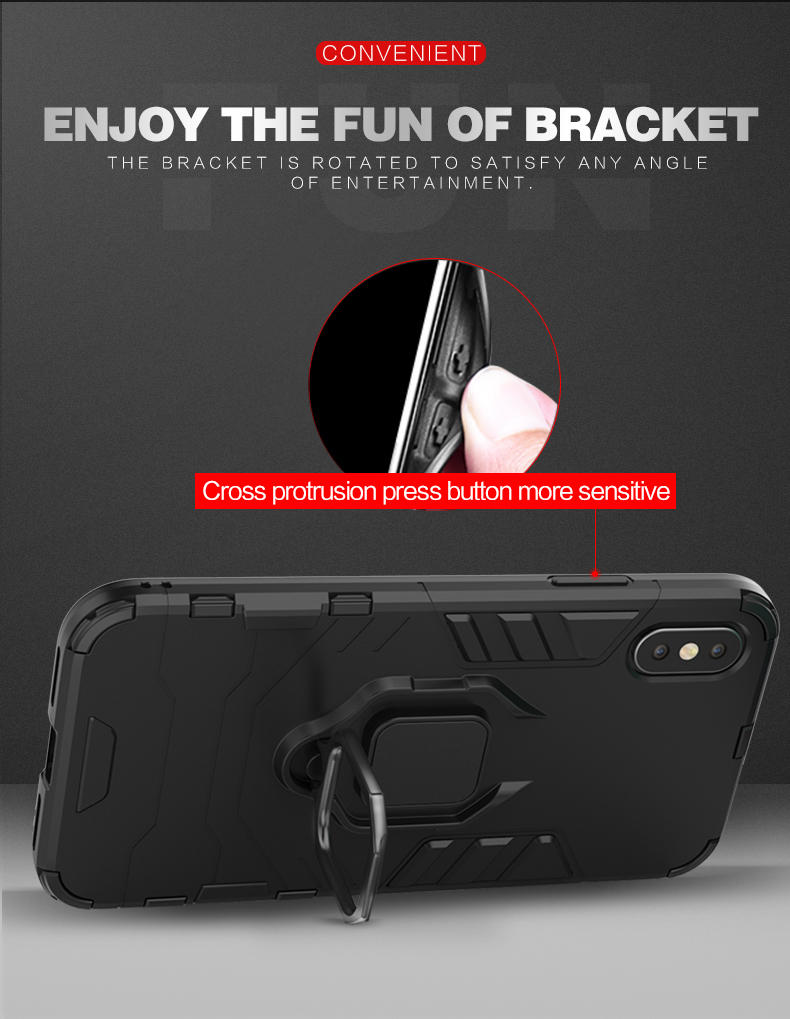 Wholesale Quality Magnetic Attraction Finger Shockproof Ring Holder Cell Phone Cases For Samsung A9 2018 Ring Holder Phone Case