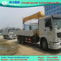 SINO 6x4 Reliable Performance mobile 3 wheels truck mounted crane