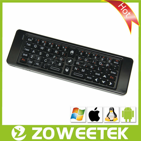 Factory 2.4GHz Wireless Keyboard With Universal Remote Control