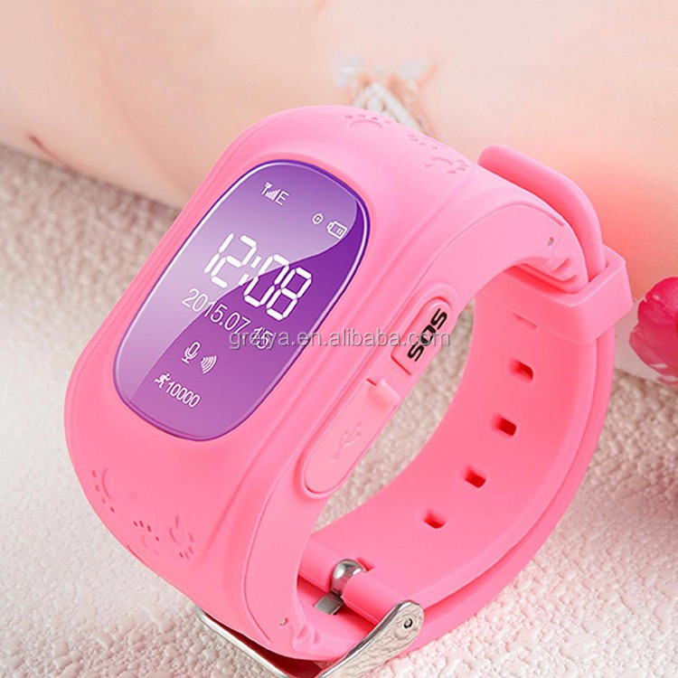 Hot new q50 gps watch waterproof for kids 2017 like mobile phone