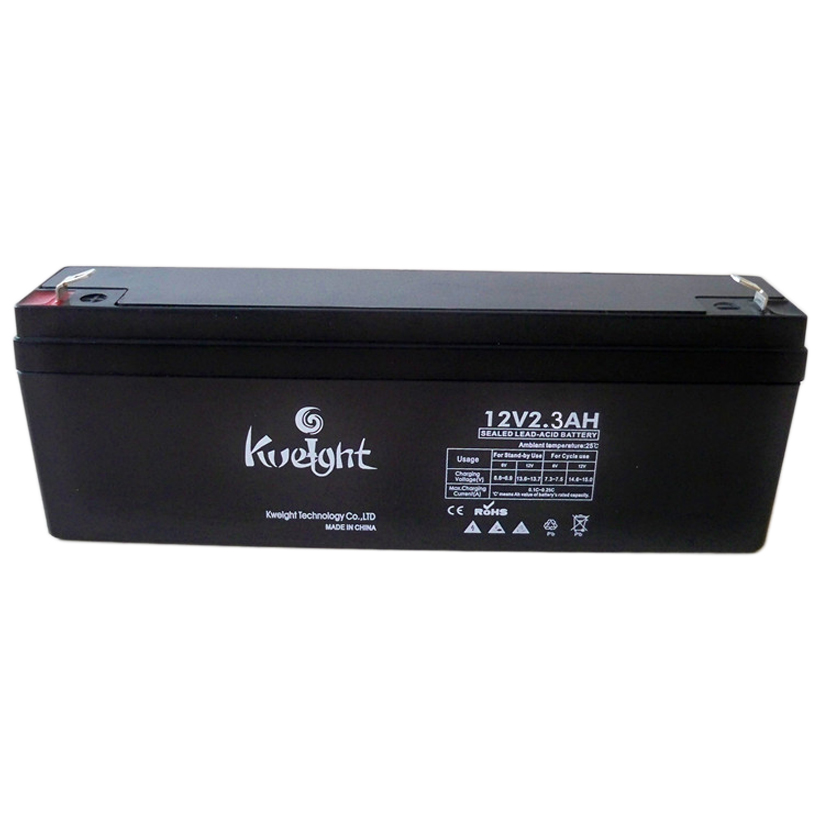 12v 2.3ah rechargeable vrla battery for lighting equipment