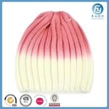 Free Sample 2017 Fashion 2 color Plain Knit Winter Hats