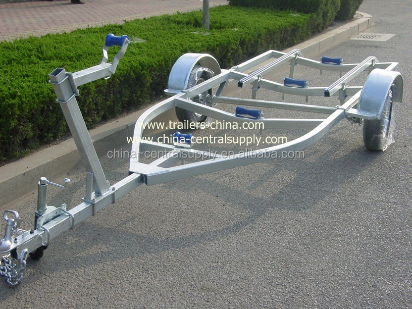 High quality Heavy duty galvanized bunk boat trailer 4.5m/1000kgs