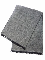 Black Long Spring Summer Fall Formal Plain Silk Viscose Polyester Brushed Cool Woven Men Male Boy Scarf Shawl Muffler